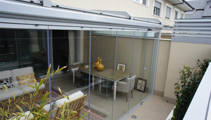 Cerramiento de aluminio para integrar la terraza cerramientos de aluminio en madrid techos - Techos de aluminio para terrazas ...