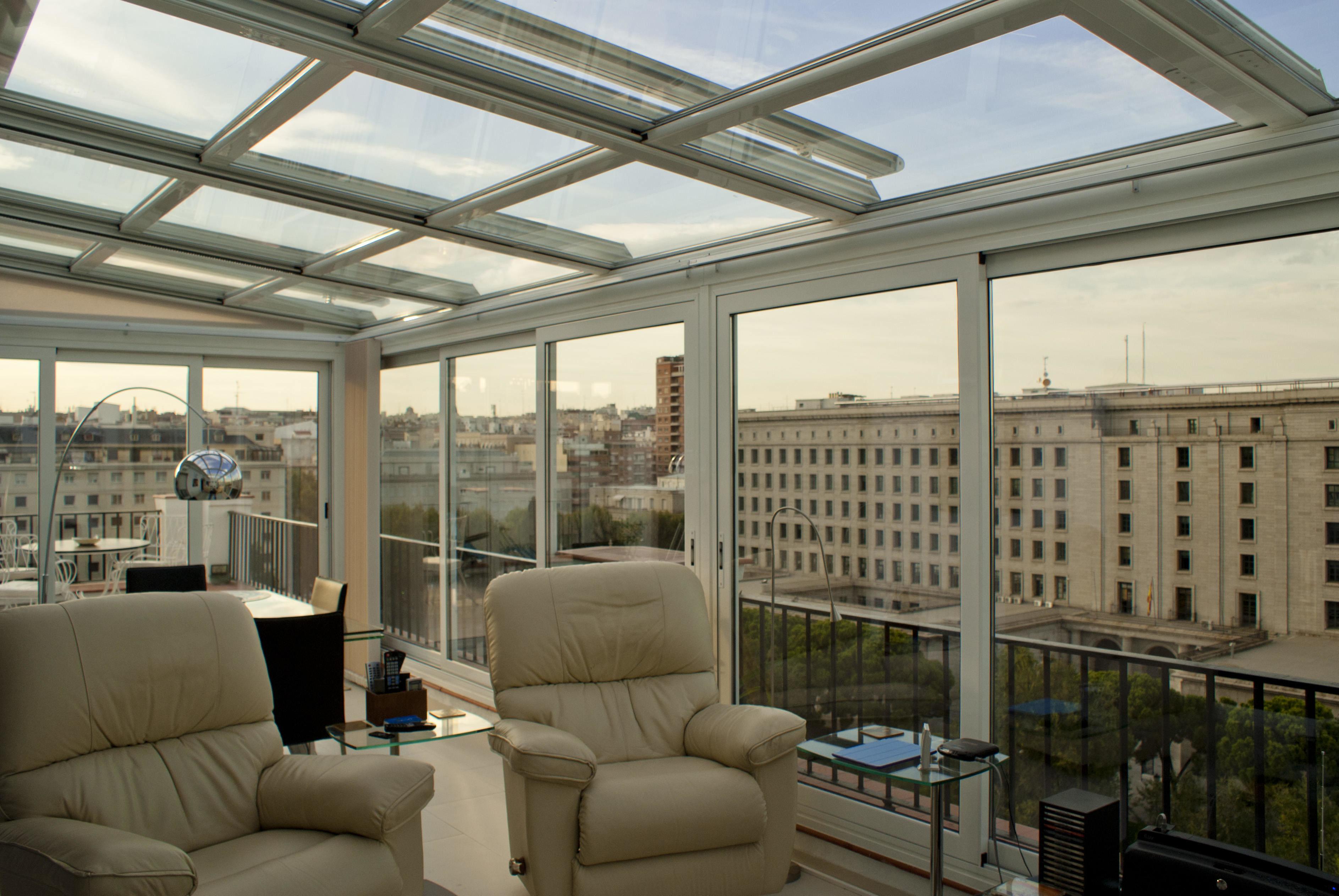 Fraimar aluminios s l techos cortinas de cristal y - Cerramientos para patios ...